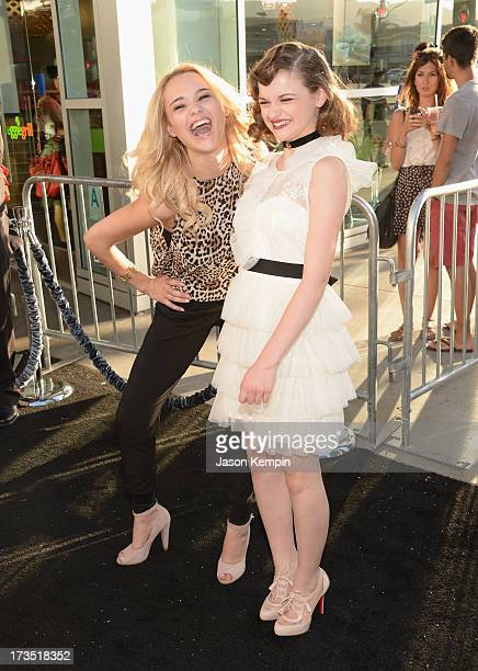 Haley King and Joey King attend the premiere of Warner Bros The Conjuring at ArcLight Cinemas Cinerama Dome on July 15 2013 in Hollywood California