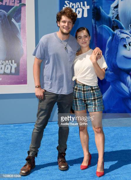 Haley Lu Richardson and Brett Dier attend the premiere of Warner Bros Pictures' 'Smallfoot' at Regency Village Theatre on September 22 2018 in...