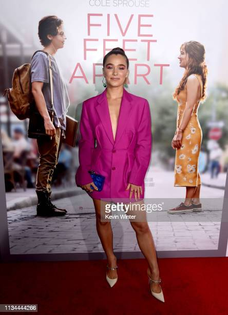 Haley Lu Richardson arrives at the premiere of CBS Films' Five Feet Apart at the Fox Bruin Theatre on March 07 2019 in Los Angeles California