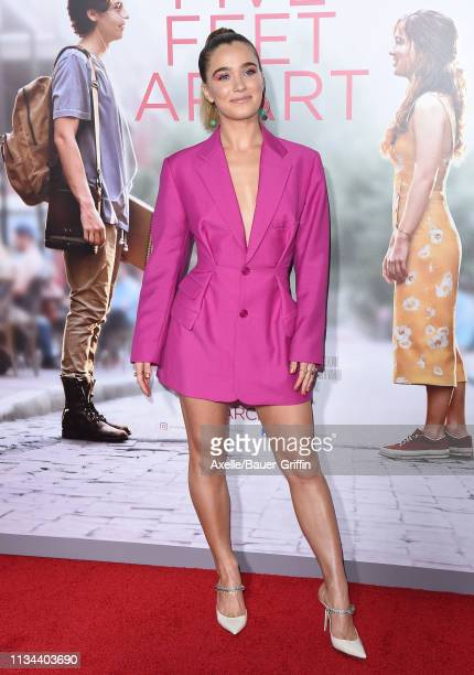 Haley Lu Richardson attends the premiere of Lionsgate's 'Five Feet Apart' at Fox Bruin Theatre on March 07 2019 in Los Angeles California