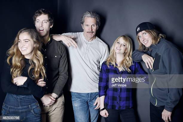 Haley Lu Richardson Thomas Middleditch Gary Cole Melissa Rauch and Bryan Buckley from 'The Bronze' pose for a portrait at the Village at the Lift...