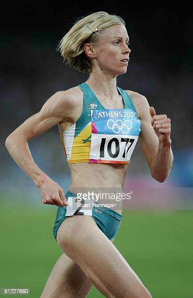 Haley McGregor of Australia competes in the women's 10000 metre event on August 27 2004 during the Athens 2004 Summer Olympic Games at the Olympic...