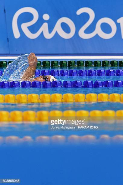 Haley of USA competes in the WOMEN'S 200M IM SM5 HEAT on day 8 of the Rio 2016 Paralympic Games at Olympic Aquatics Stadium on September 15 2016 in...