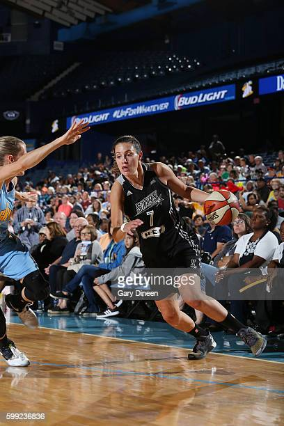 Haley Peters of the San Antonio Stars drives to the basket against the Chicago Sky on September 4 2016 at Allstate Arena in Rosemont IL NOTE TO USER...