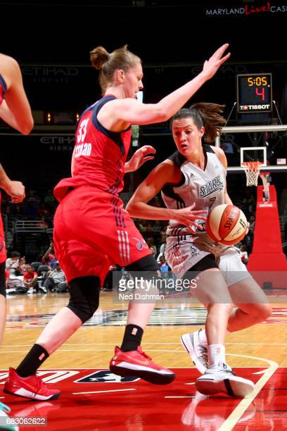 Haley Peters of the San Antonio Stars drives to the basket against the Washington Mystics on May 14 2017 at Verizon Center in Washington DC NOTE TO...