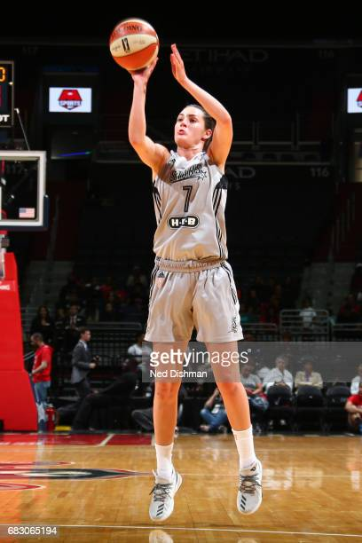 Haley Peters of the San Antonio Stars shoots the ball against the Washington Mystics on May 14 2017 at Verizon Center in Washington DC NOTE TO USER...
