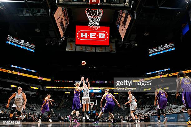 Haley Peters of the San Antonio Stars shoots the ball Los Angeles Sparks on May 9 2016 at the ATT Center in San Antonio Texas NOTE TO USER User...