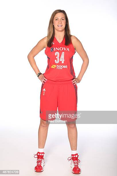 Haley Peters of the Washington Mystics poses for a photo during 2014 Washington Mystics media day at the Verizon Center on April 28 2014 in...