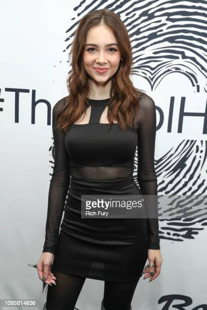 Haley Pullos attends the unveiling of the Cool HeART Gallery at Sofitel Los Angeles At Beverly Hills on January 17 2019 in Los Angeles California