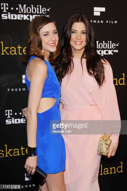 Haley Ramm and Ashley Greene arrive at the Los Angeles Premiere of 'Skateland' held at ArcLight Hollywood on May 11 2011 in Hollywood California