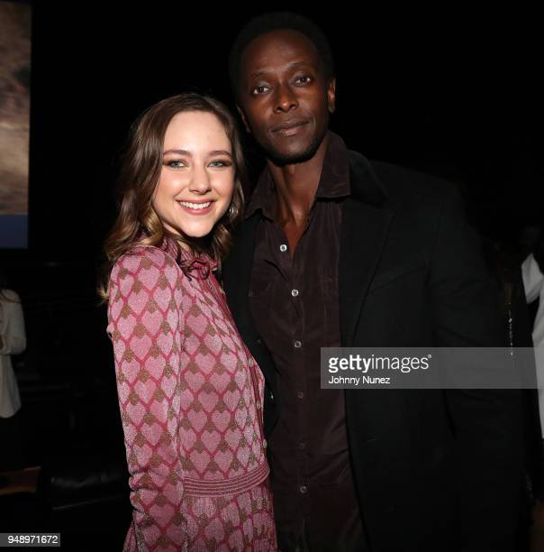 Haley Ramm and Edi Gathegi attend the 'Pimp' Private Screening at Regal Battery Park Cinemas on April 19 2018 in New York City