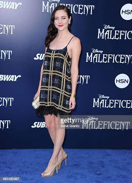 Haley Ramm arrives at the World Premiere Of Disney's 'Maleficent' at the El Capitan Theatre on May 28 2014 in Hollywood California