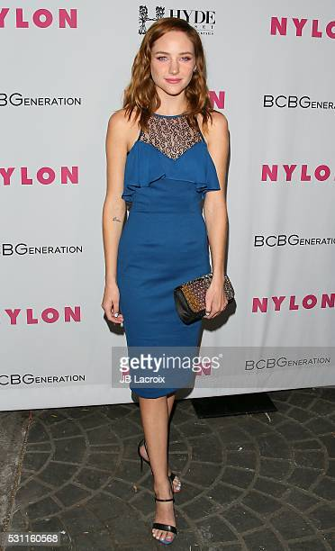 Haley Ramm attends the NYLON and BCBGeneration's Annual Young Hollywood May Issue Event on May 12 2016 in West Hollywood California