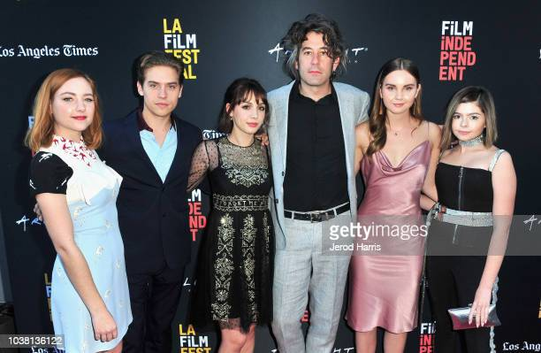 Haley Ramm Dylan Sprouse Hannah Marks Benjamin Kasulke Liana Liberato and Addison Riecke attend the screening of 'Banana Split' during the 2018 LA...