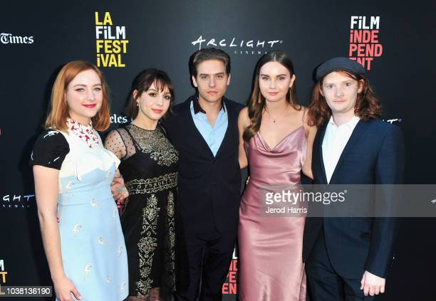 """Haley Ramm, Hannah Marks, Dylan Sprouse, Liana Liberato, and Luke Spencer Roberts attend the screening of """"Banana Split"""" during the 2018 LA Film..."""