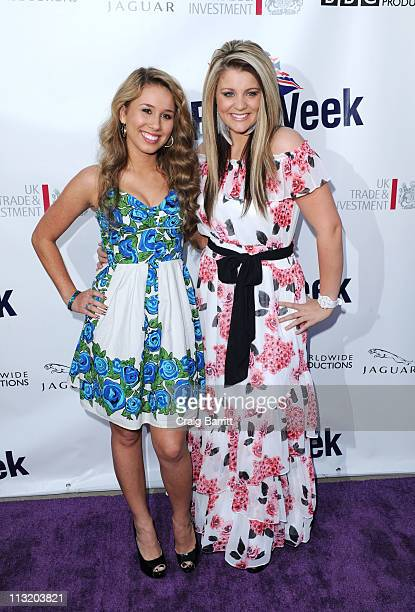 Haley Reinhart and Lauren Alaina attend the Champagne Launch Of 2011 BritWeek at British Consul General's Residence on April 26 2011 in Los Angeles...