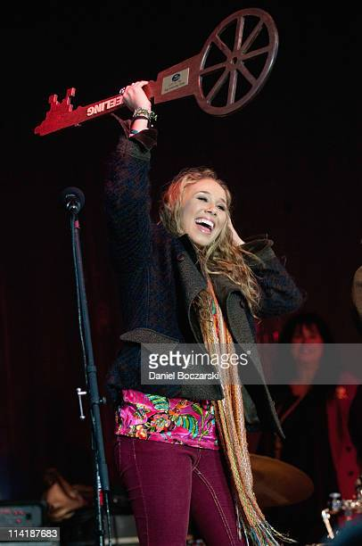 Haley Reinhart receives a key to the city of Wheeling after May 14 was declared Haley Reinhart Day during the homecoming for American Idol Season 10...