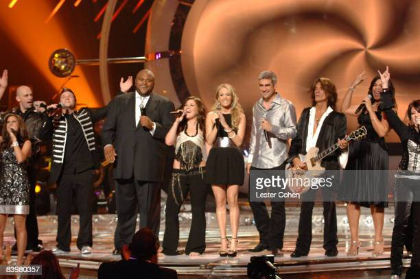 Haley Scarnato Phil Stacey Blake Lewis Ruben Studdard Kelly Clarkson Carrie Underwood Taylor Hicks Joe Perry of Aerosmith and Jordin Sparks...