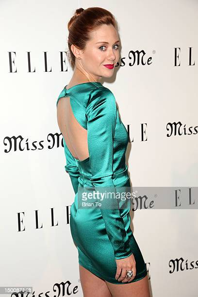 Haley Strode attends Elle Magazine and Sarah Hyland hosts Songbirds' Miss Me album release party at Sunset Marquis Hotel Villas on August 9 2012 in...