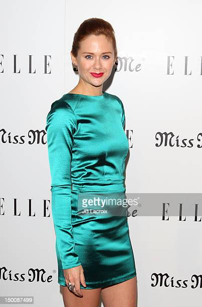 Haley Strode attends the Elle Magazine And Sarah Hyland Hosts Songbirds' Miss Me Album Release Party at Sunset Marquis Hotel Villas on August 9 2012...