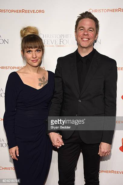 Haley Tanner and singersongwriter Josh Ritter attend the Christopher Dana Reeve Foundation hosts A Magical Evening at Cipriani Wall Street on...
