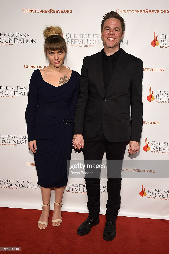 Haley Tanner and singer-songwriter Josh Ritter attend the Christopher & Dana Reeve Foundation hosts 'A Magical Evening' at Cipriani Wall Street on November 17, 2016 in New York City.