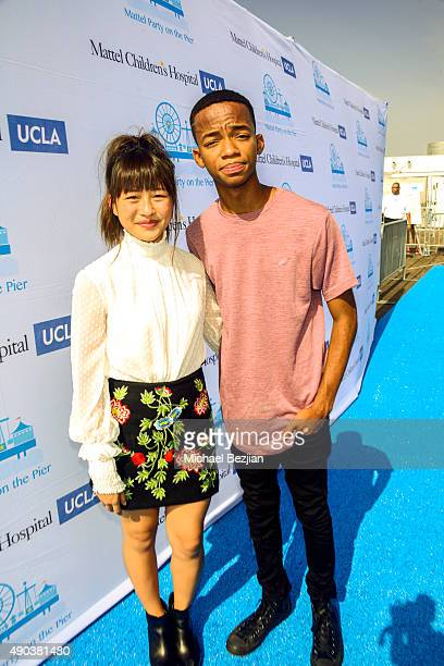 Haley Tju and Coy Stewart arrive at Mattel Children's Hospital UCLA 16th Annual Party On The Pier Fundraiser at Santa Monica Pier on September 27...