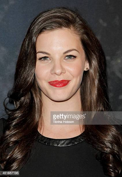 Haley Webb attends the MTV's 'Teen Wolf' fan appreciation event at Burbank Airport Marriott on November 23 2013 in Burbank California