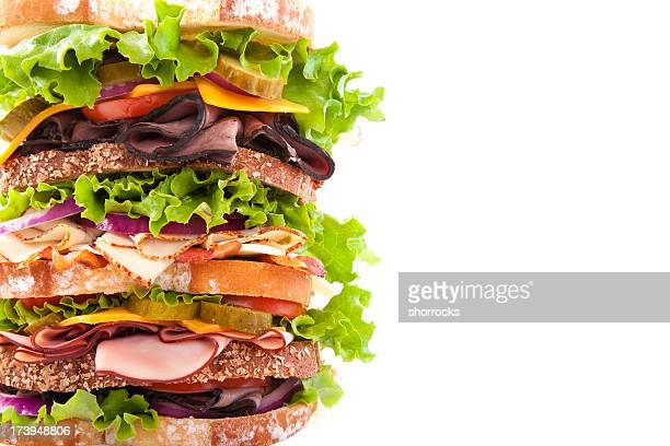half a dagwood - sandwich stock pictures, royalty-free photos & images