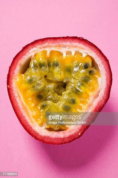 Half a purple granadilla (passion fruit)