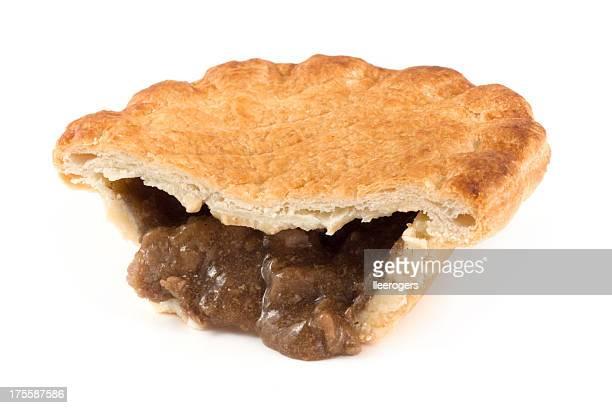 Half a steak pie