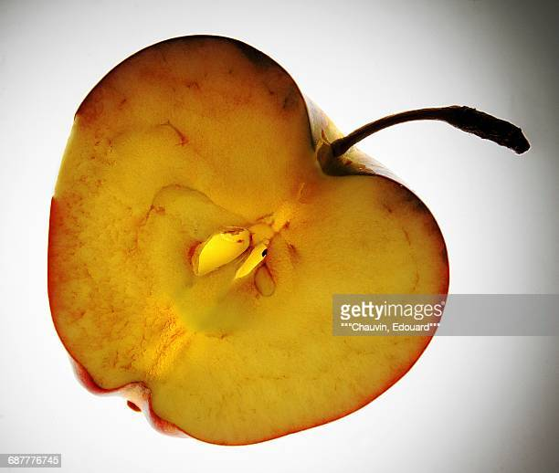 half an apple - chauvin stock pictures, royalty-free photos & images