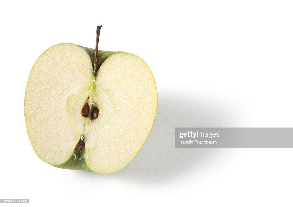 Half an apple, white background : Stockfoto