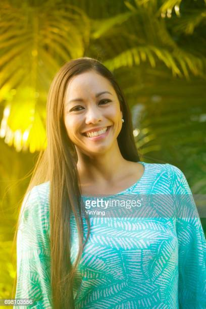 Half Body Portrait of a Hawaiian Polynesian Young Woman