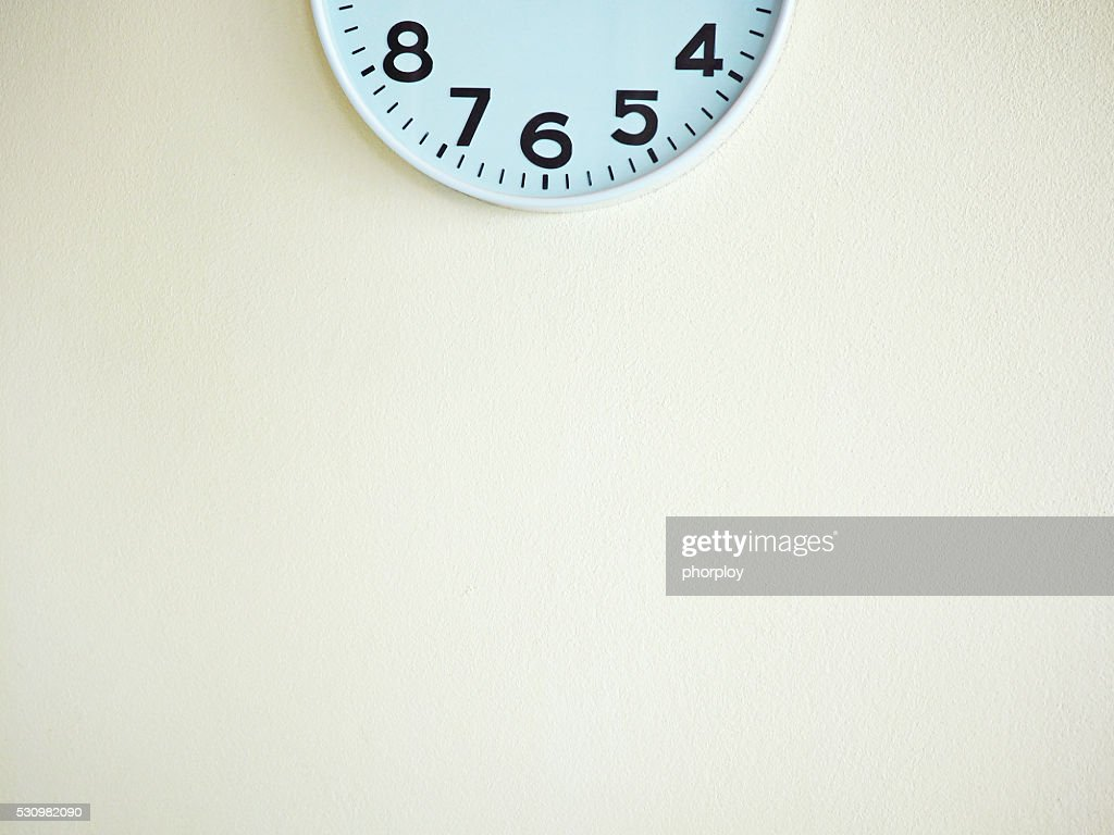 Half Clock On The Wall For Background Stock Photo Getty Images