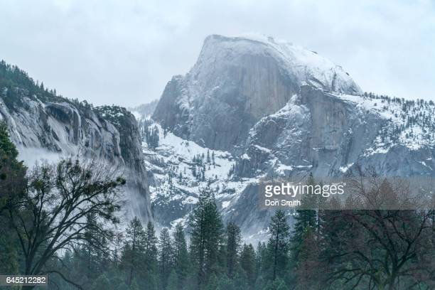 half dome and clearing storm - don smith stock pictures, royalty-free photos & images
