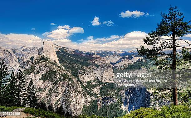 Half Dome and Vernal Falls and Nevada Falls from Glacier Point, Yosemite Valley
