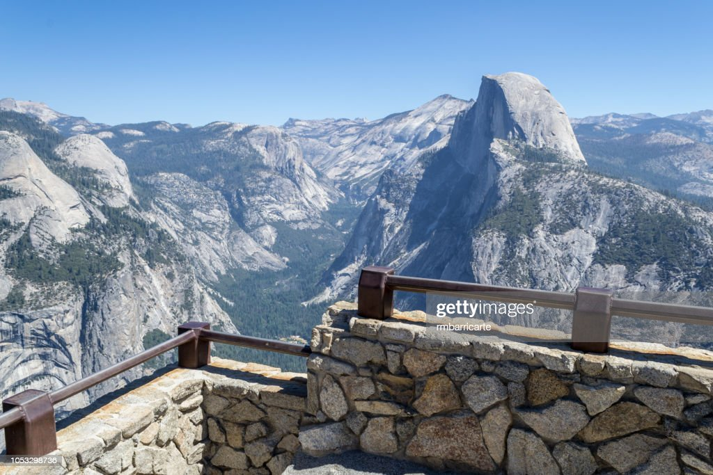 Half Dome from Glacier Point at Yosemite : Stock Photo