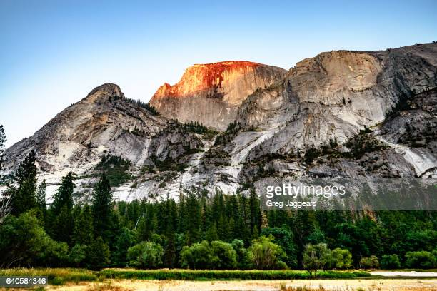 Half Dome from Mirror Lake, Yosemite California
