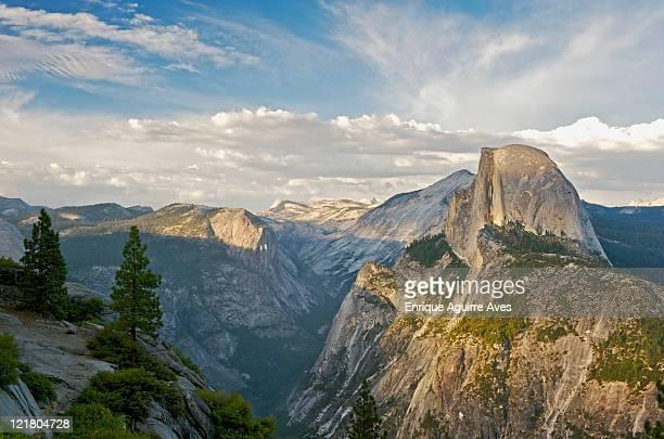 Half Dome in evening light from Glacier Point, Yosemite, California, USA