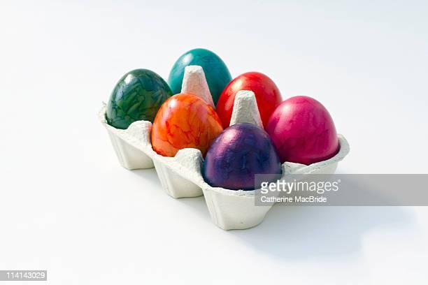 Half dozen painted eggs
