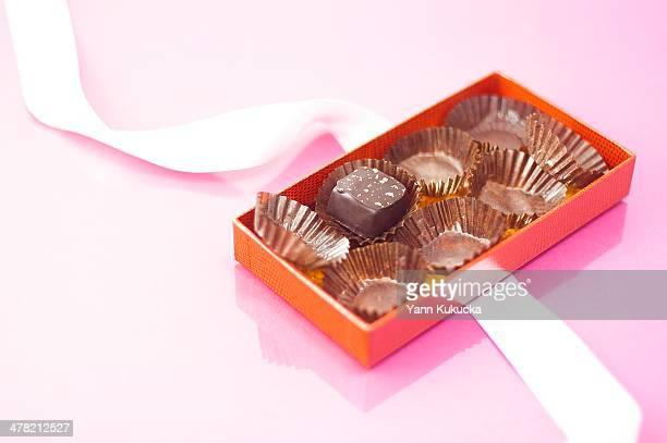 Half eaten box of chocolates