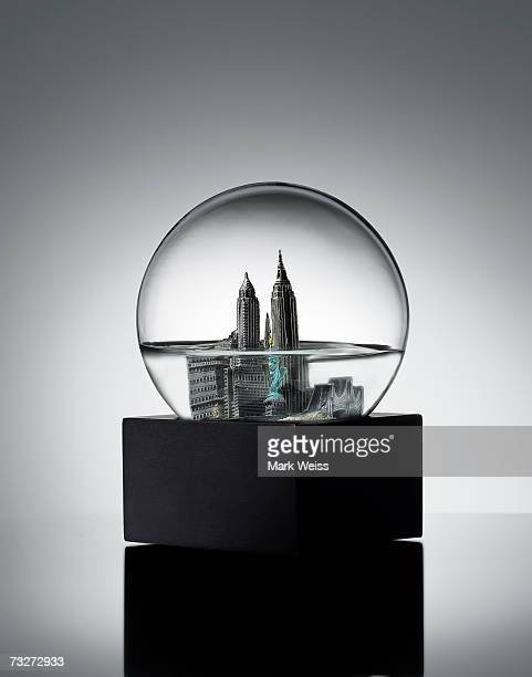 Half empty New York snowglobe