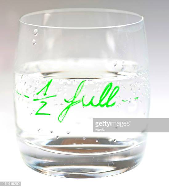 half full - half full stock photos and pictures