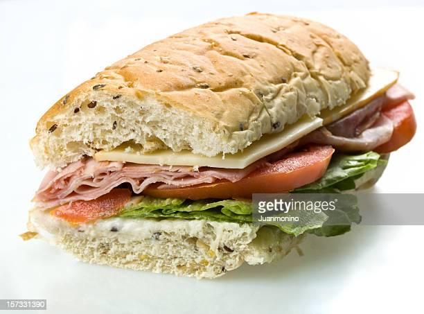 Demi-Sandwich à la baguette jambon et au fromage