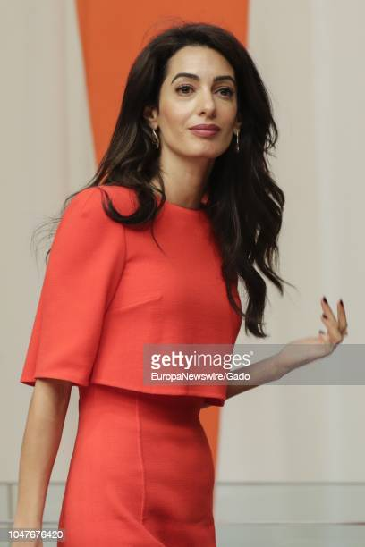 Half length portrait of Amal Clooney During an Event on Press Behind Bars: Undermining Justice and Democracy at the United Nations headquarters in...