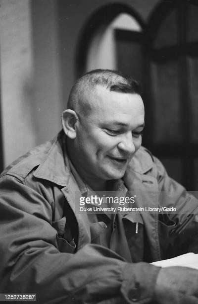 Half length portrait of Comandante Guillermo Garcia, Cuba, 1963. From the Deena Stryker photographs collection.