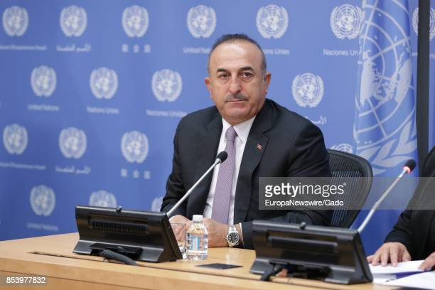 Half length portrait of Turkey's Foreign Minister Mevlut Cavusoglu at the United Nations headquarters in New York City New York September 22 2017