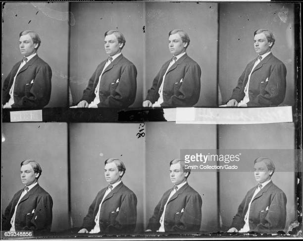 Half length seated portrait of Robert T Lincoln American lawyer politician and businessman and oldest son of Abraham Lincoln and Mary Todd Lincoln...