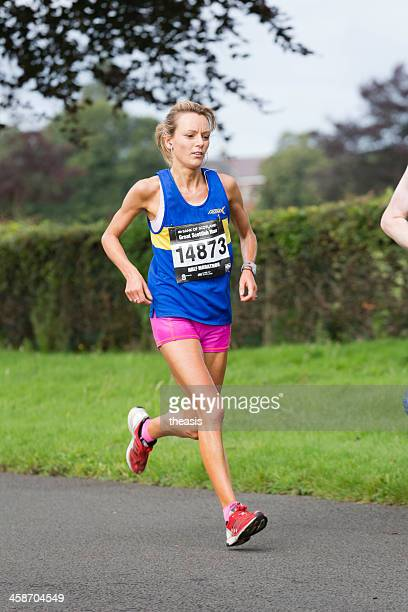 half marathon runner - theasis stock pictures, royalty-free photos & images